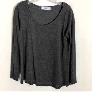 Able Womens Scoop Neck Long Sleeve Tee | Size M